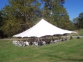 Rental store for TENT, 40  X 40   WHITE  POLE TENT in Kingsport TN