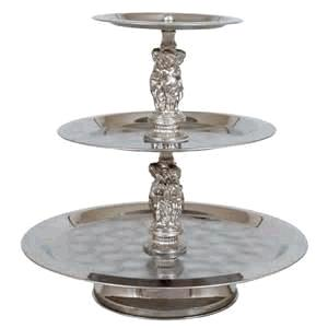 Where to find TRAY, SILVER TRIM FIGURINE  3 TIER in Kingsport