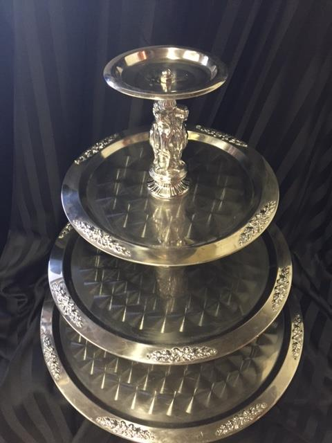 Where to find TRAY, SILVER TRIM FIGURINE   4 TIER in Kingsport