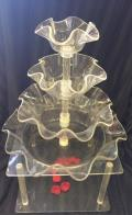 Rental store for TRAY 3 TIER  SCALLOPED  ACRYLIC in Kingsport TN