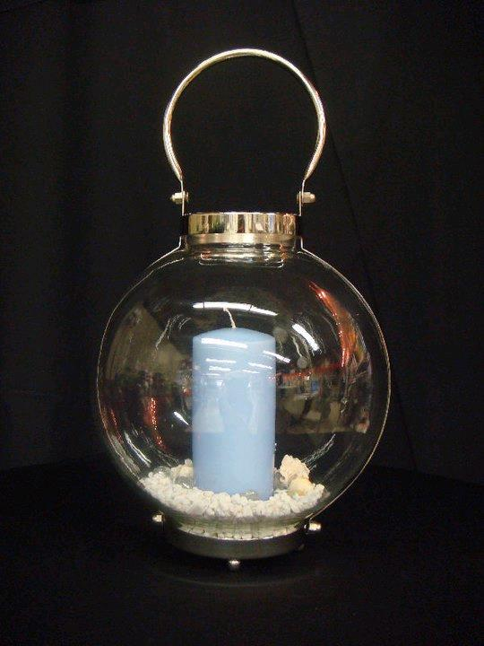 Where to find LANTERNS,  11.5   GLASS WITH SILVER in Kingsport