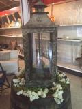 Rental store for LANTERN,  WOODEN  11x30 FLAMELESS CANDLE in Kingsport TN