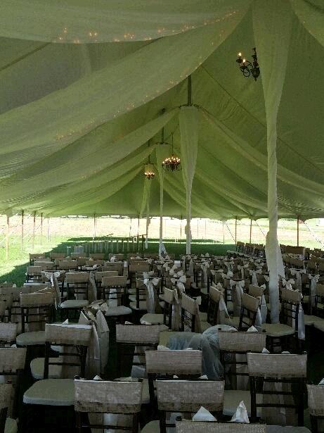 Tent Draping 40 Foot X40 Foot Pole Tent Rentals Kingsport