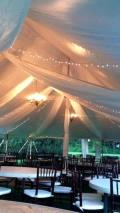 Rental store for TENT DRAPING FABRIC  40X60  POLE TENT1 in Kingsport TN