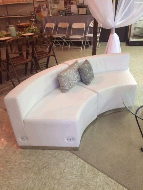 Where to find WHITE  LEATHER  SOFA CURVED in Kingsport