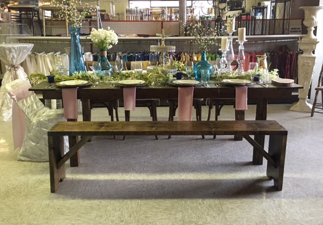 Where to find RUSTIC   WOODEN  BENCH in Kingsport