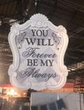 Rental store for FOREVER AND ALWAYS  WEDDING SIGN in Kingsport TN