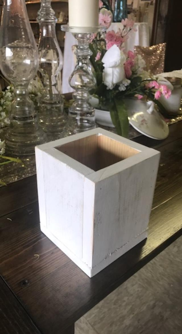 Where to find WOODEN BOXES  WHITE WASH in Kingsport