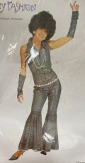 Rental store for GO GO DISCO BLACK  SHINY  JUMPSUIT in Kingsport TN