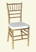Rental store for CHAIR,  CHIAVARI   GOLD   CUSHION in Kingsport TN